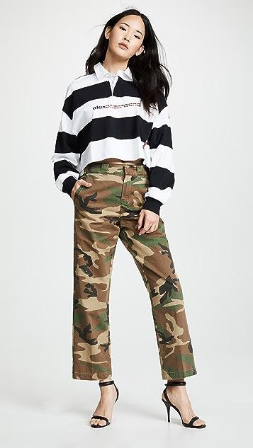 ba6d97438e782 ... Alexander Wang Cropped Rugby Stripe Shirt ...