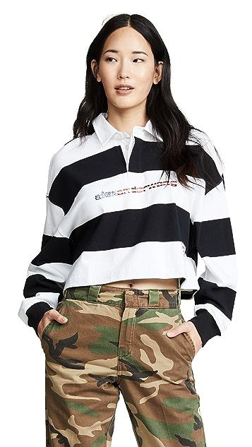 19e248543b70f ... Alexander Wang Cropped Rugby Stripe Shirt