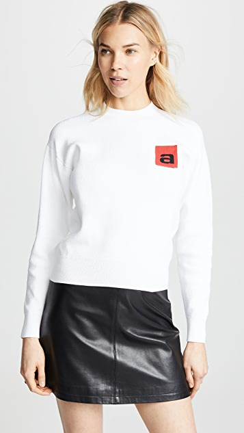 Alexander Wang Mesh Pullover with Logo Flag
