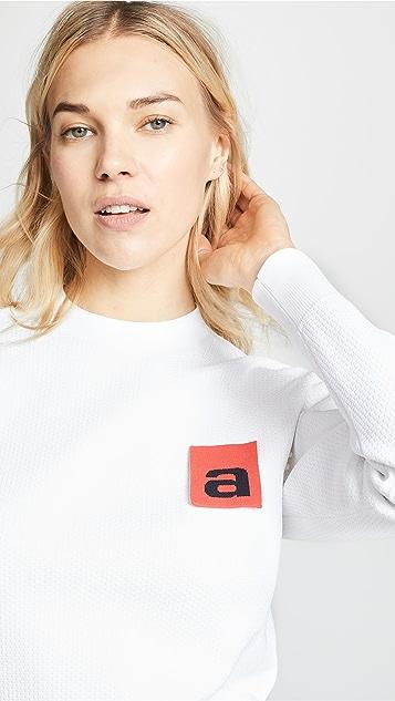Alexander Wang Сетчатый пуловер с изображением флага с логотипом