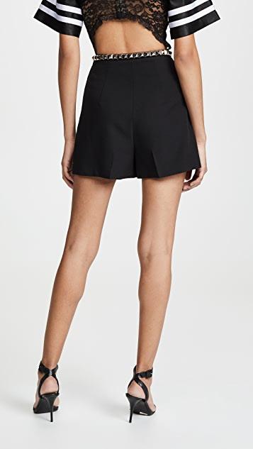Alexander Wang Pleated Shorts with Studded Belt