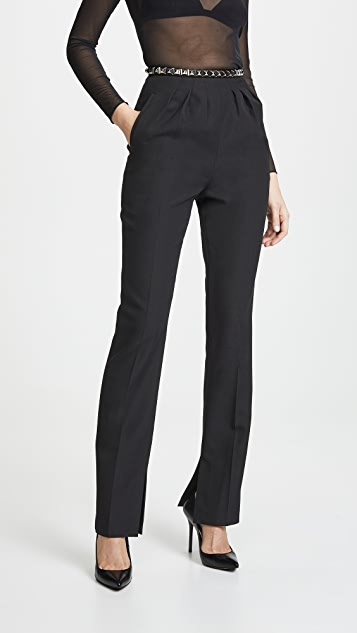Pleated Trouser With Studded Belt by Alexander Wang
