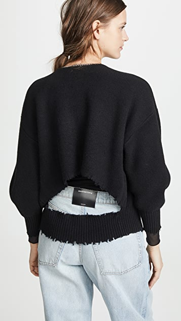 Alexander Wang Split Back Cardigan With Chain Placket