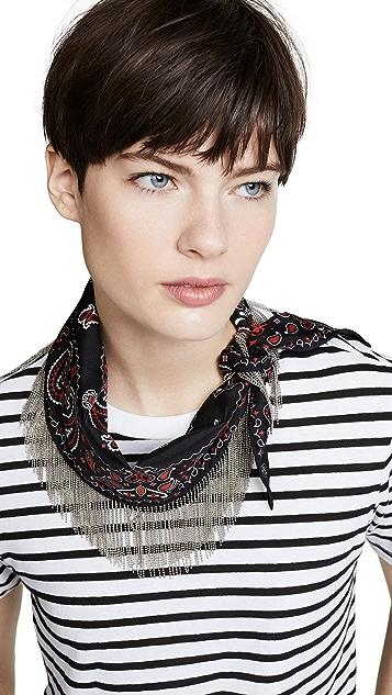 Alexander Wang Шелковый шарф-хомут с бахромой