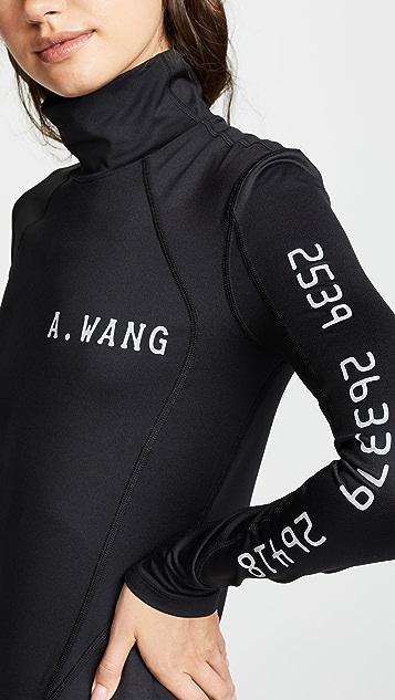 Alexander Wang Scuba Rash Guard Top