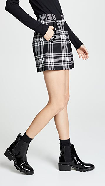 Alexander Wang High Waisted Shorts with Fold Front Detail