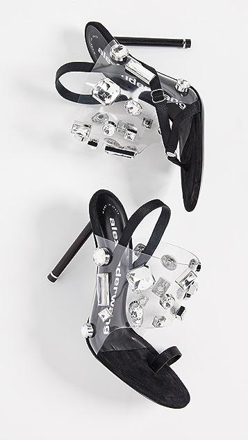 Alexander Wang Crystal Kaia Sandals