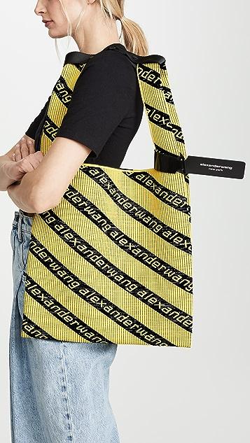 Alexander Wang Вязаная жаккардовая объемная сумка для покупок с короткими ручками