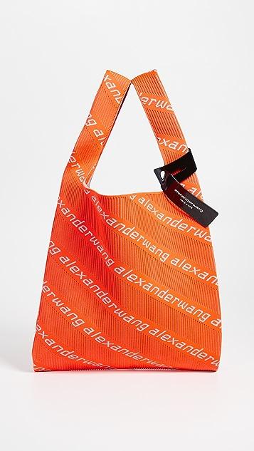 Alexander Wang Knit Jacquard Shopper Tote - Orange