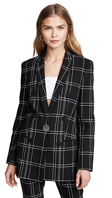 Alexander Wang Peaked Lapel Jacket with Leather Trim