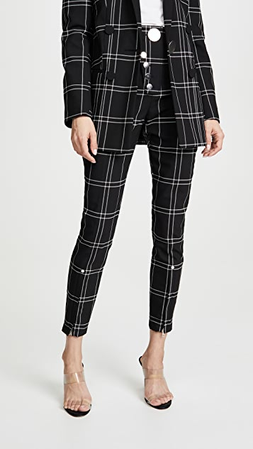 High Waisted Leggings With Snap Detail by Alexander Wang