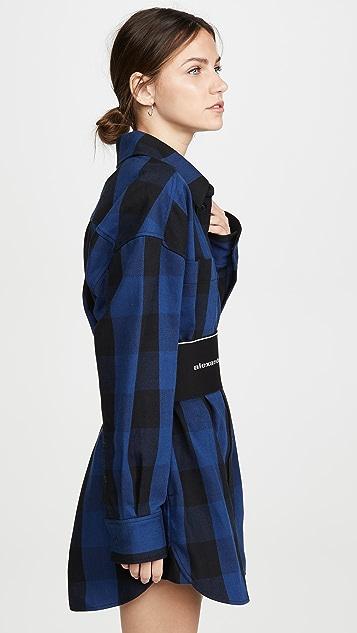 Alexander Wang Платье-рубашка в клетку