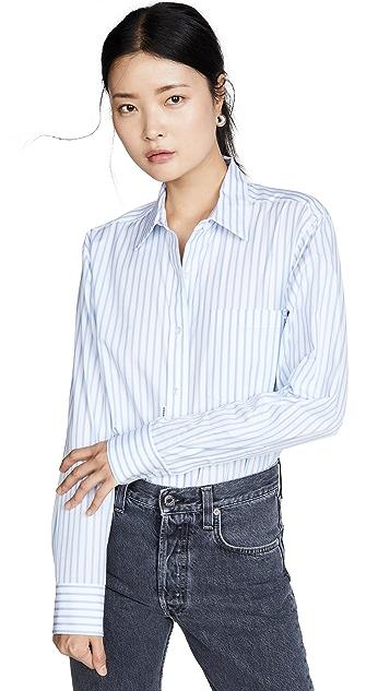 Alexander Wang Button Down Shirt Bodysuit