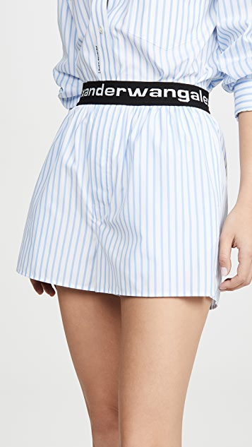 Alexander Wang Свободные шорты с резинкой с логотипом