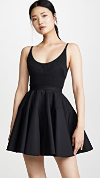 Poplin Fit and Flare Dress