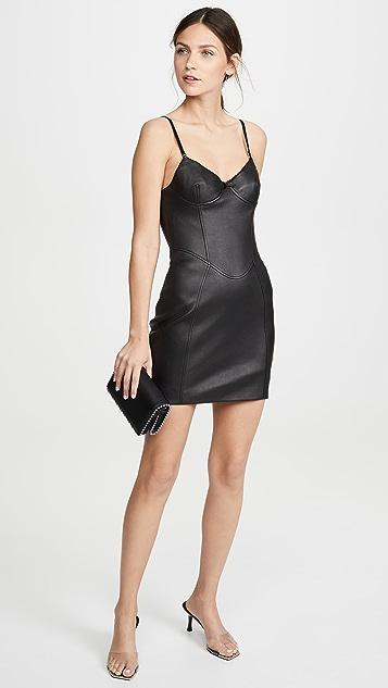 Alexander Wang Платье Little Black Dress из эластичной кожи