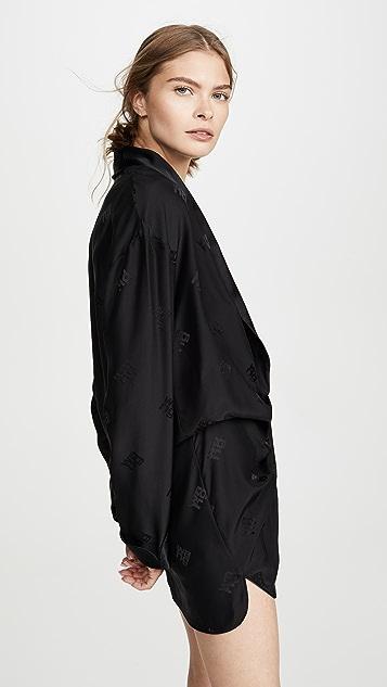 Alexander Wang Пижамный комбинезон с драпировкой