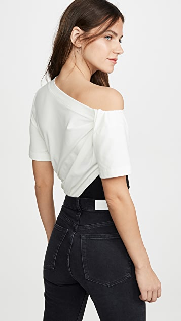 Alexander Wang Draped T-Shirt with Bustier