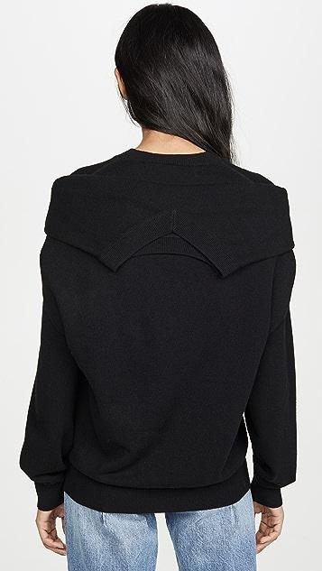 Alexander Wang Пуловер с округлым вырезом и завязками на плечах
