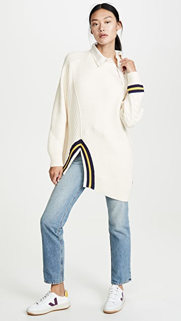 Alexander Wang Varsity Pullover Polo Collar