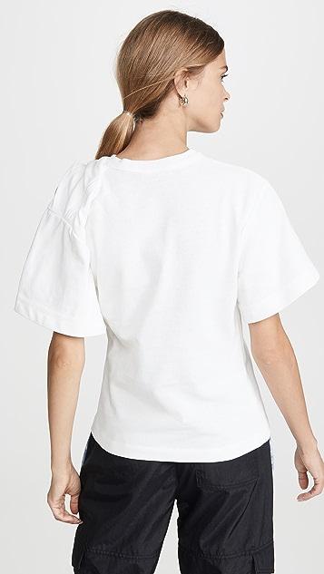 Alexander Wang Драпированная футболка с короткими рукавами