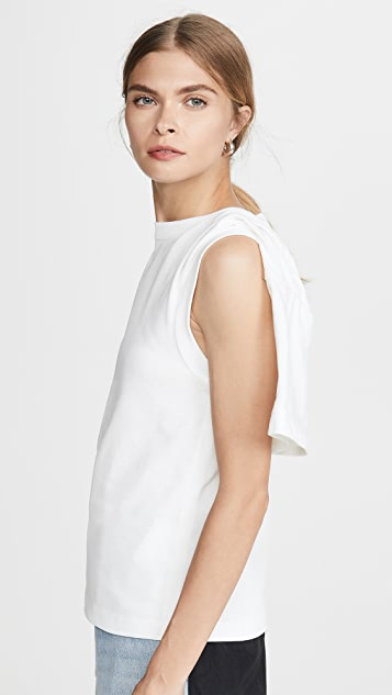 Alexander Wang 垂褶短袖 T 恤