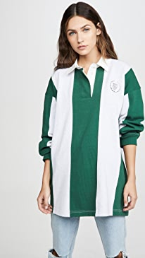 Long Sleeve Rugby Collared Shirt