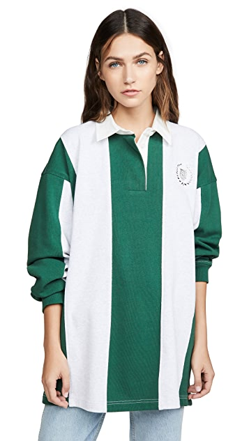 Alexander Wang Long Sleeve Rugby Collared Shirt