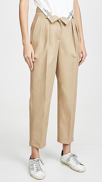 Alexander Wang Зауженные брюки Flipped с поясом