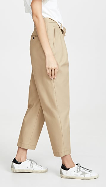 Alexander Wang Flipped Waistband Carrot Pants