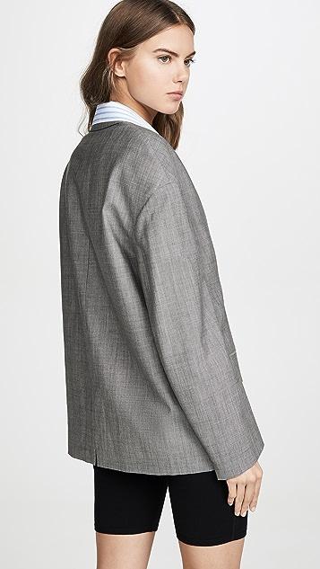 Alexander Wang 府绸衬衣马海毛西装外套