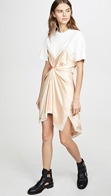 Alexander Wang Cinched T-Shirt Slip Dress
