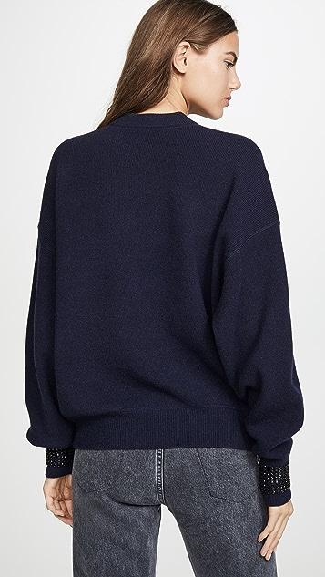 Alexander Wang Crystal Cuff Pullover