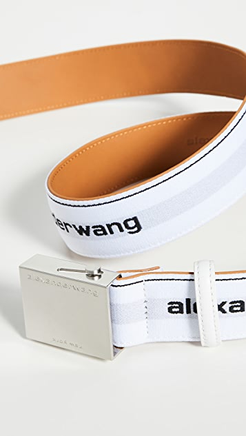 Alexander Wang 徽标松紧腰带