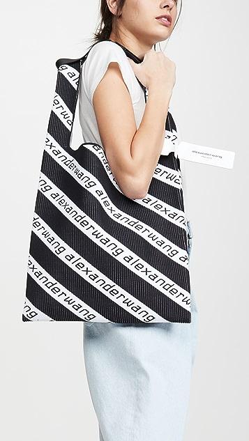 Alexander Wang Трикотажная большая объемная сумка с короткими ручками для покупок