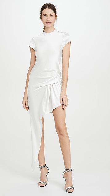 Alexander Wang Dress Exposed Leg Short Sleeve Dress