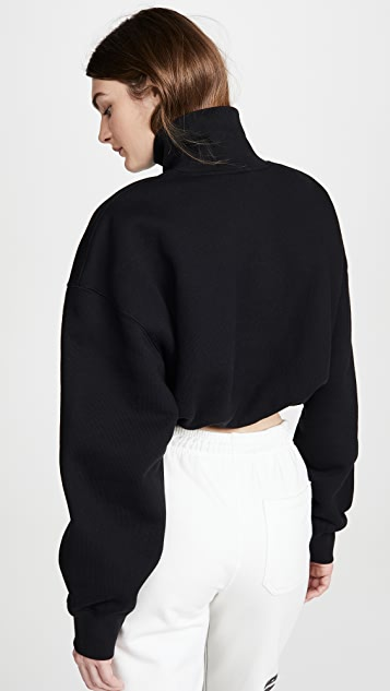 Alexander Wang 刺绣短款半高领运动衫