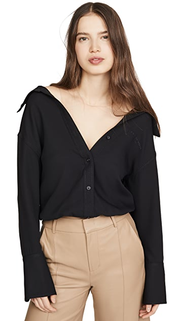 Alexander Wang Falling Shoulder Blouse