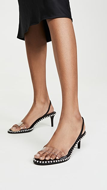 Alexander Wang Nova Low Crystal Sandals