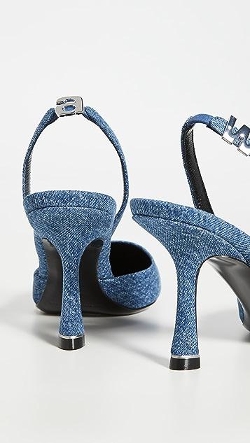 Alexander Wang Туфли Grace с ремешком на пятке на каблуках высотой 85мм