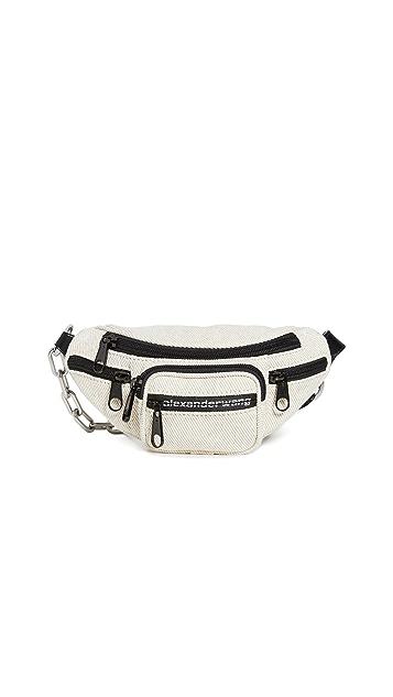 Alexander Wang Маленькая мягкая поясная сумка Attica с ремешком через плечо
