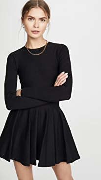 Shortrowed Long Sleeve Dress