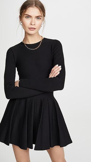 Alexander Wang Shortrowed Long Sleeve Dress