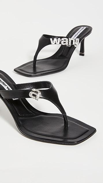 Alexander Wang Ivy Logo Thong Sandals 85mm