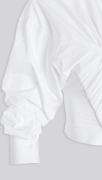 Alexander Wang 有袖设计抽褶束身上衣