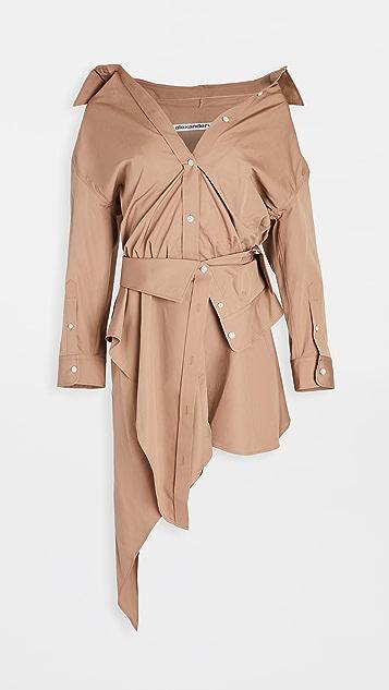 Alexander Wang Asymetric Deconstructed Shirt Dress