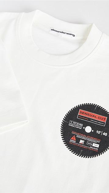 Alexander Wang 锯条印花中性 T 恤