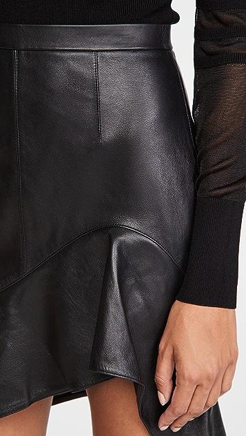 Alexander Wang Deconstructed Miniskirt with Ruffle