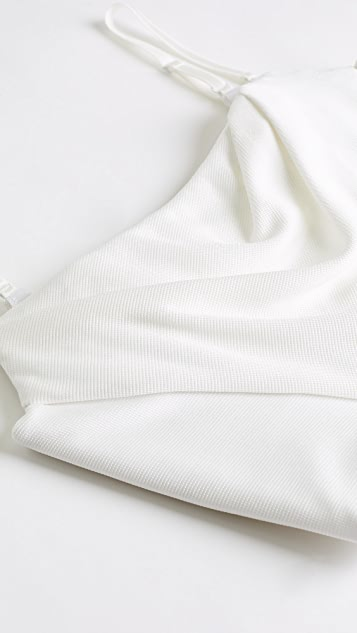Alexander Wang 粘纤链条平纹针织垂褶吊带束身款