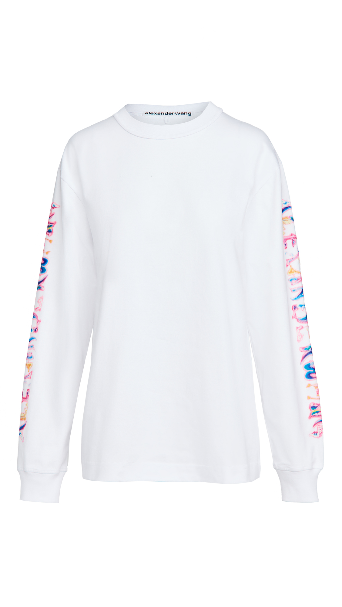 Alexander Wang Long Sleeve Tee with Logo Graphic